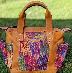 Huipil Leather Bag Artisan Hand Made LIKE nena&co4